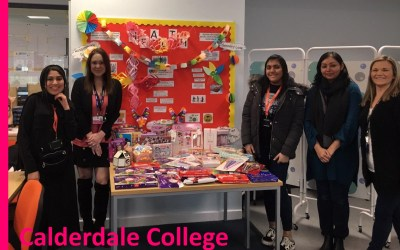 Calderdale College donate to YCT Appeal