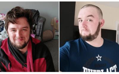 Dan Shaves his Lockdown 'Mop-head'