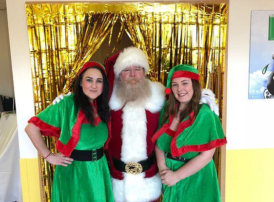 Santa Blake at Calderdale Hospital