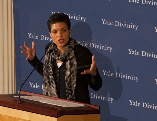 At a Monday talk, civil rights lawyer Michelle Alexander condemned mass incarceration of African-Americans as a form of legalized discrimination.