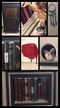 French Cabinet: details of the painting works,