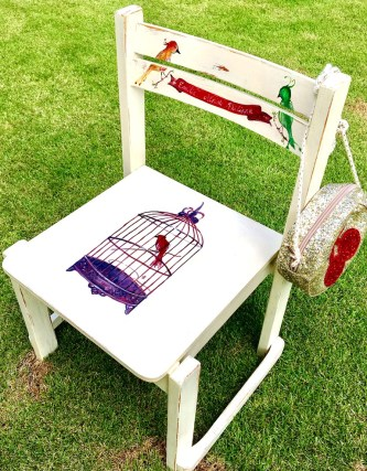 Personalized chair with kids' names