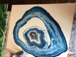 Blue agate under preparation