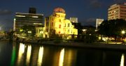 night-time at the A-Bomb dome