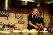Preparing Okonomiyaki