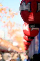 Lanterns decorate the way