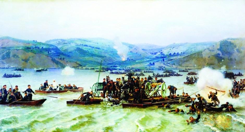 93 harbi'nde küçük filolarla tuna nehri'ni geçmeye çalışan rus birlikleri