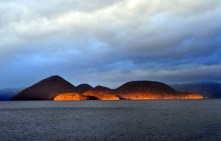 Glowing-volcano-island