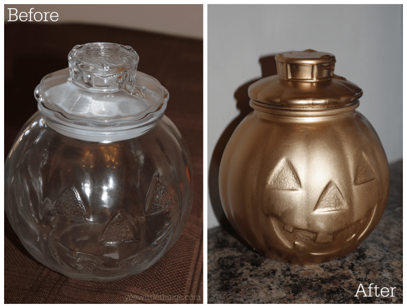 DIY Gold Fall Decor