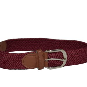 Maroon Canvas Belt-Yehe