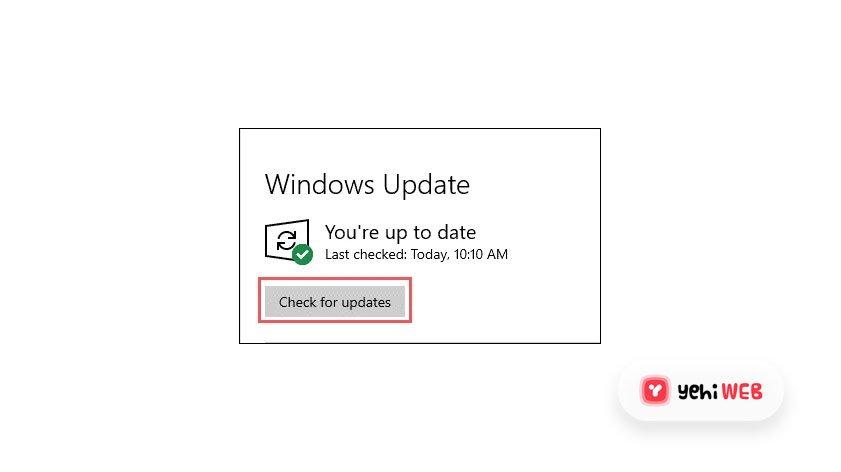 Windows Update Blue Screen Of Death BSOD - Yehiweb