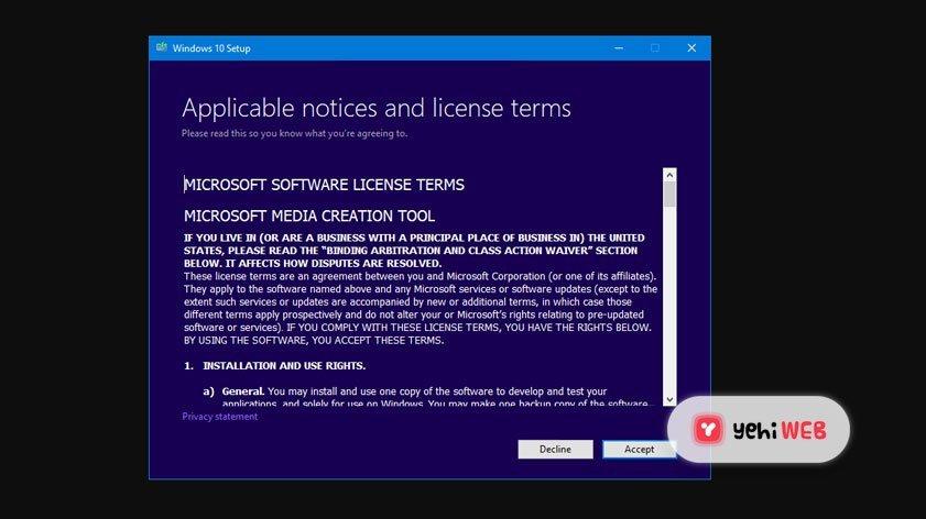 Windows 10 Update Yehiweb