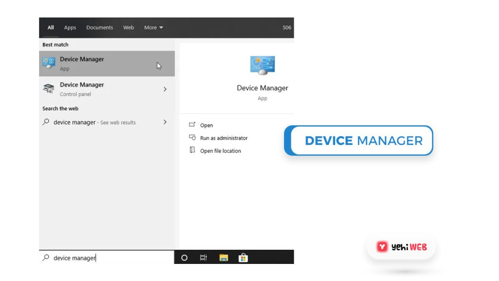 device manager yehiweb