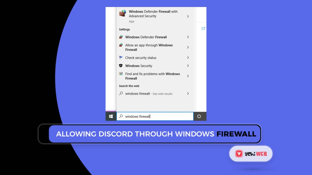 Allowing Discord through Windows firewall Yehiweb