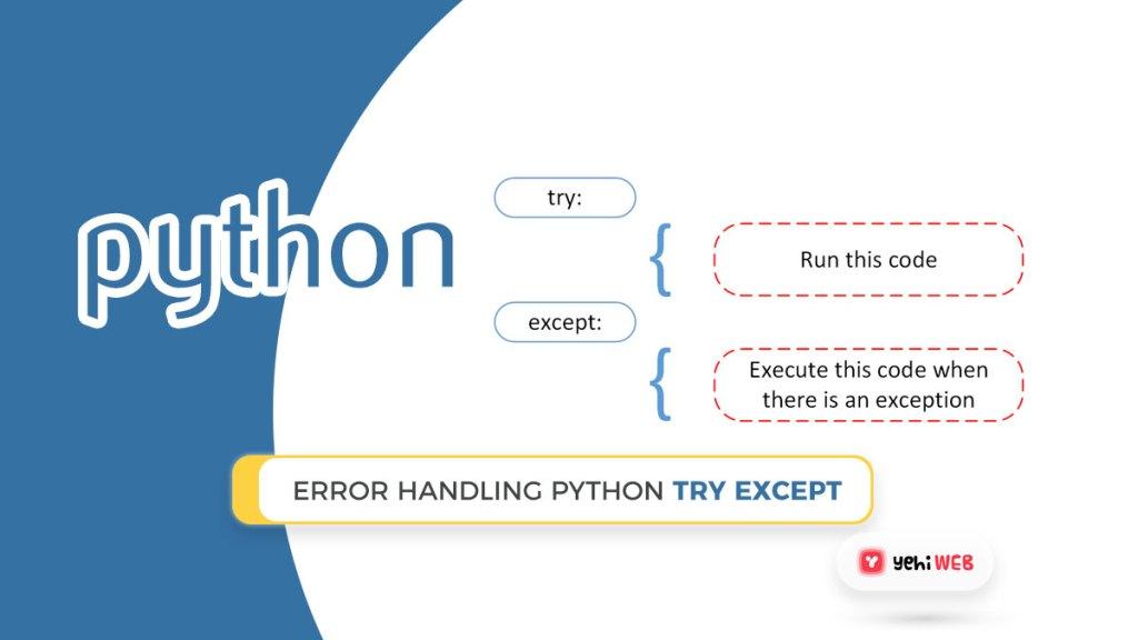 Error Handling Python try except python yehiweb