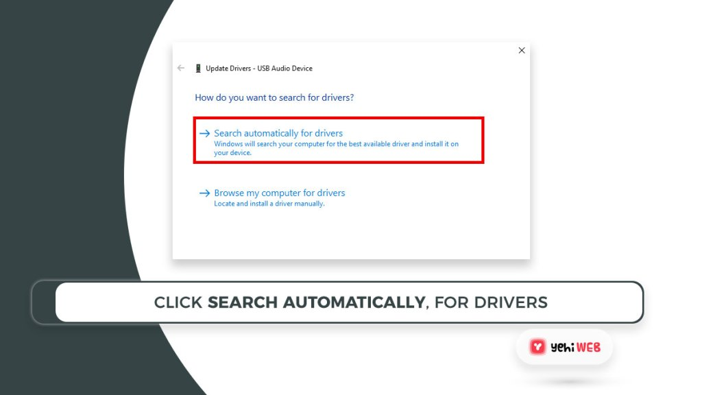 click search automatically, for drivers yehiweb