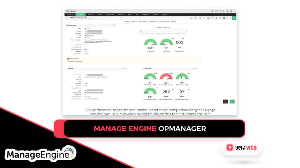 manage engine OpManager Yehiweb
