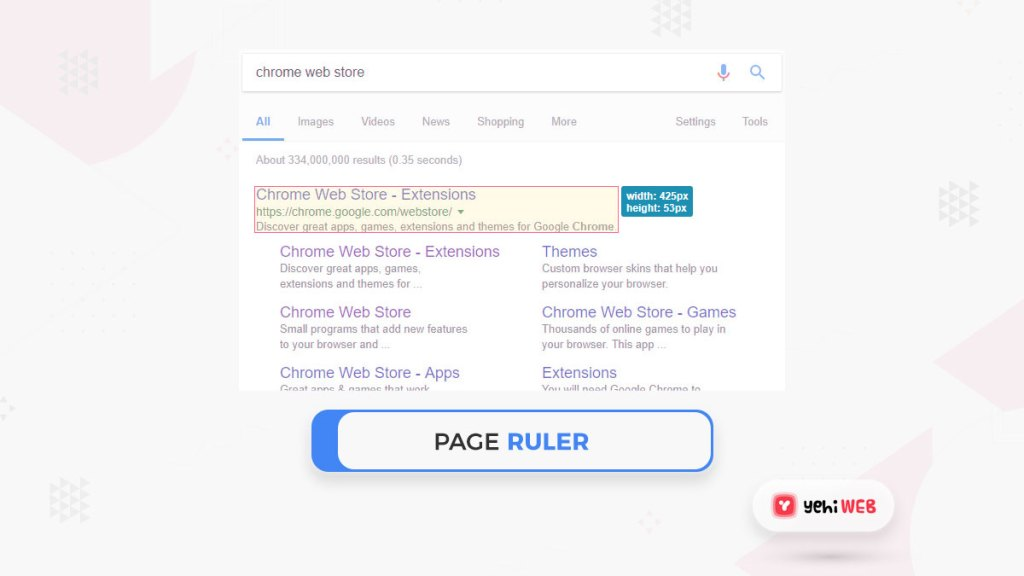 page rulers google chrome extension yehiweb