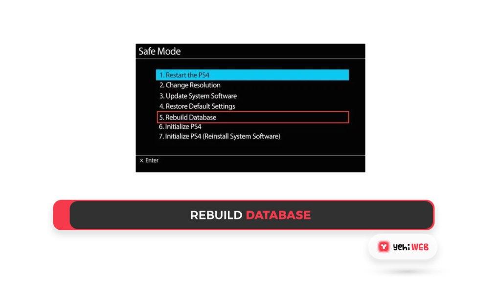 rebuild database Yehiweb