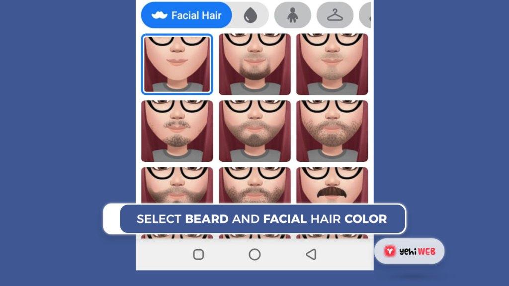 select beard and facial hair color facebook yehiweb