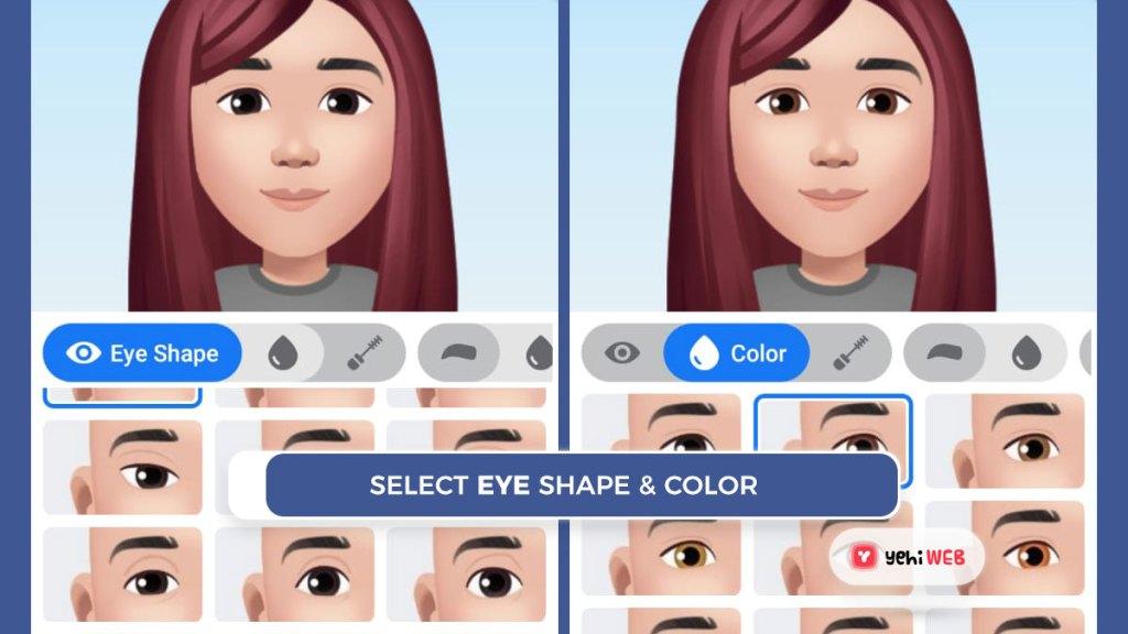 select eye shape shape and color facebook yehiweb