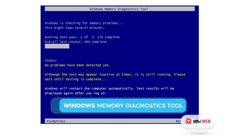 windows memory diagnostics tool Yehiweb