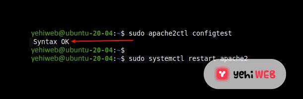 Check Apache Configuration Yehiweb