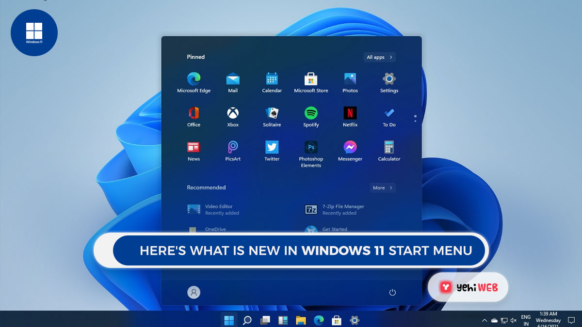 Here's what is new in Windows 11Start menu