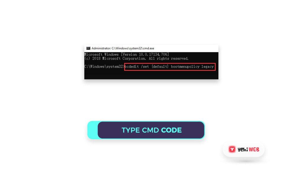 type code cmd yehiweb