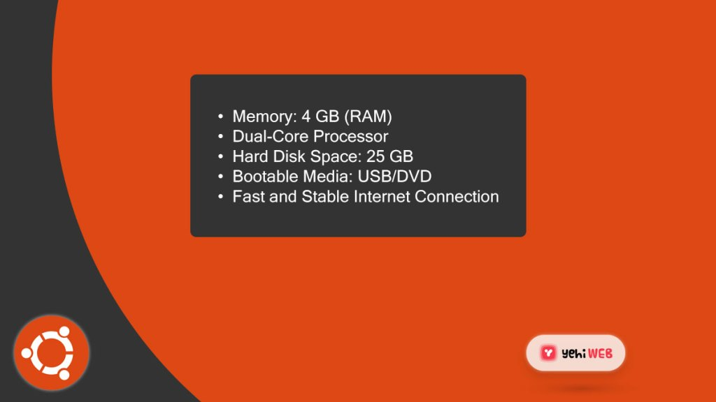 ubuntu system specification yehiweb