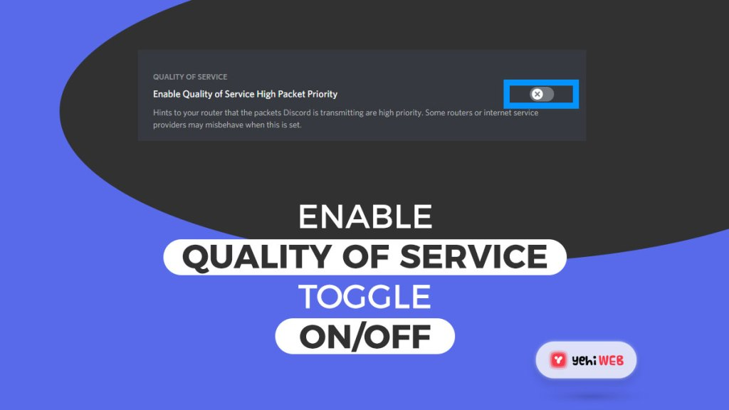 enable quality of service toggle on off yehiweb