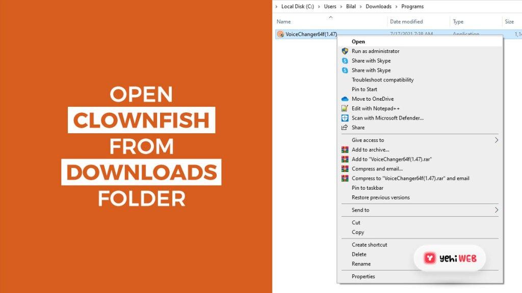 open clownfish from downloads folder yehiweb