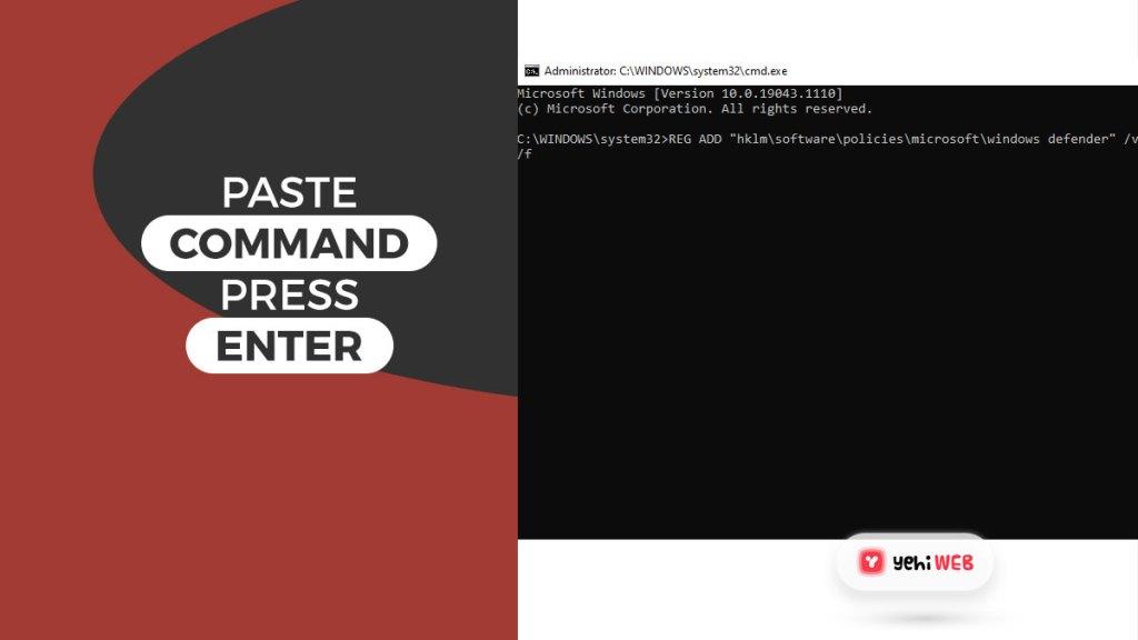 paste command press enter yehiweb