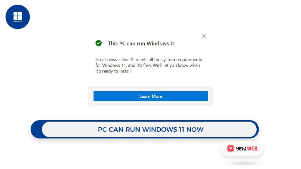 pc can run windows 11 now Yehiweb