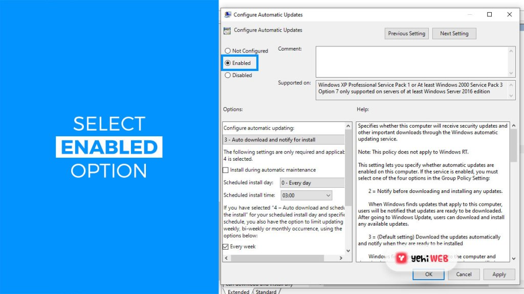 select enabled option yehiweb