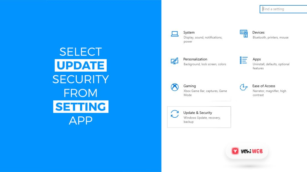 select update security from setting app yehiweb