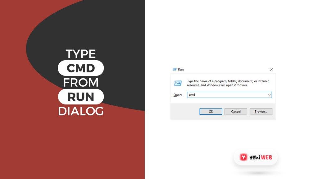 type cmd from run dialog yehiweb
