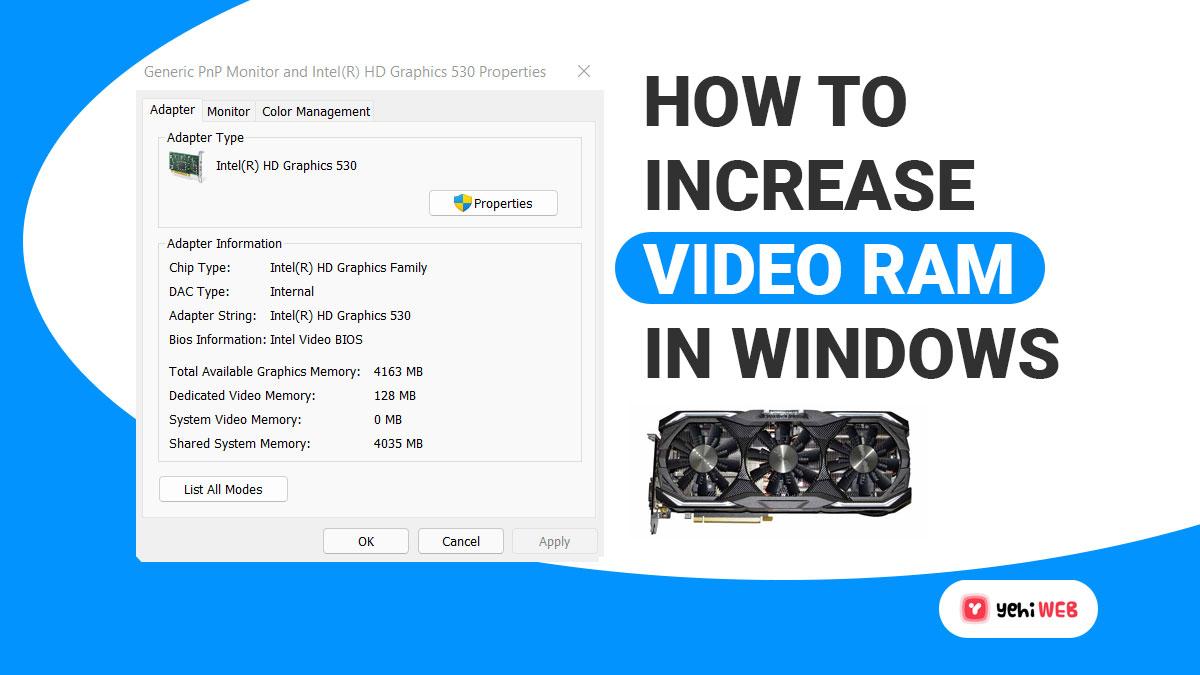 How To Increase Vram [Video Ram] on Windows PC