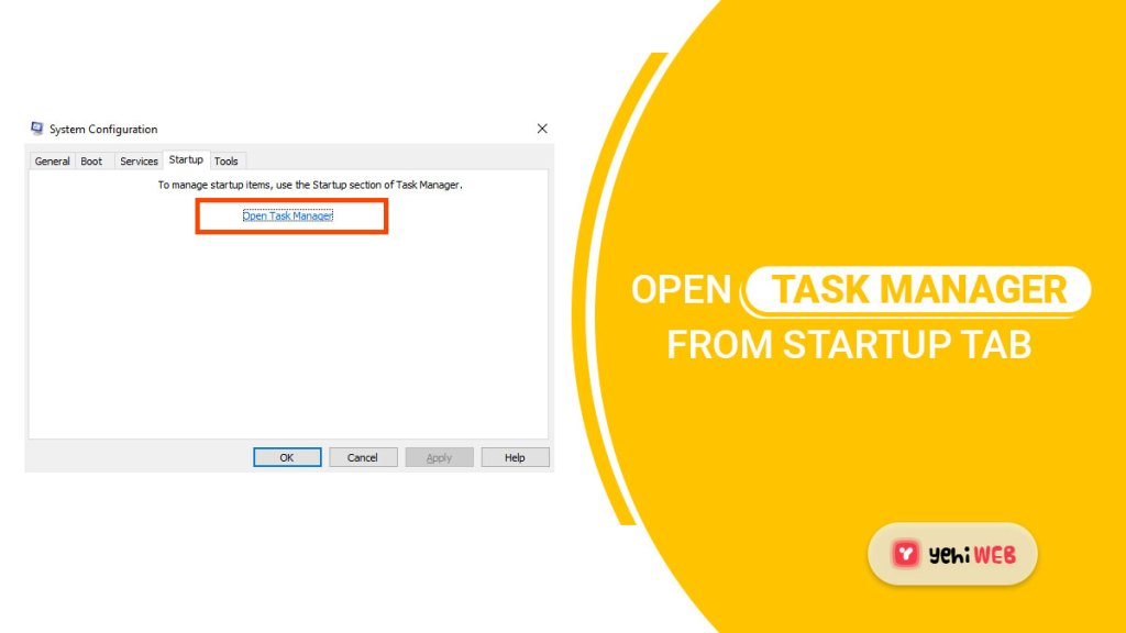 open task manager from startup tab yehiweb