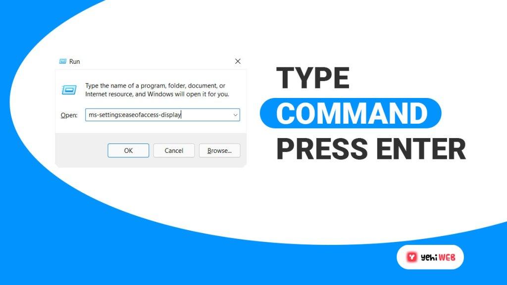 type command press enter yehiweb