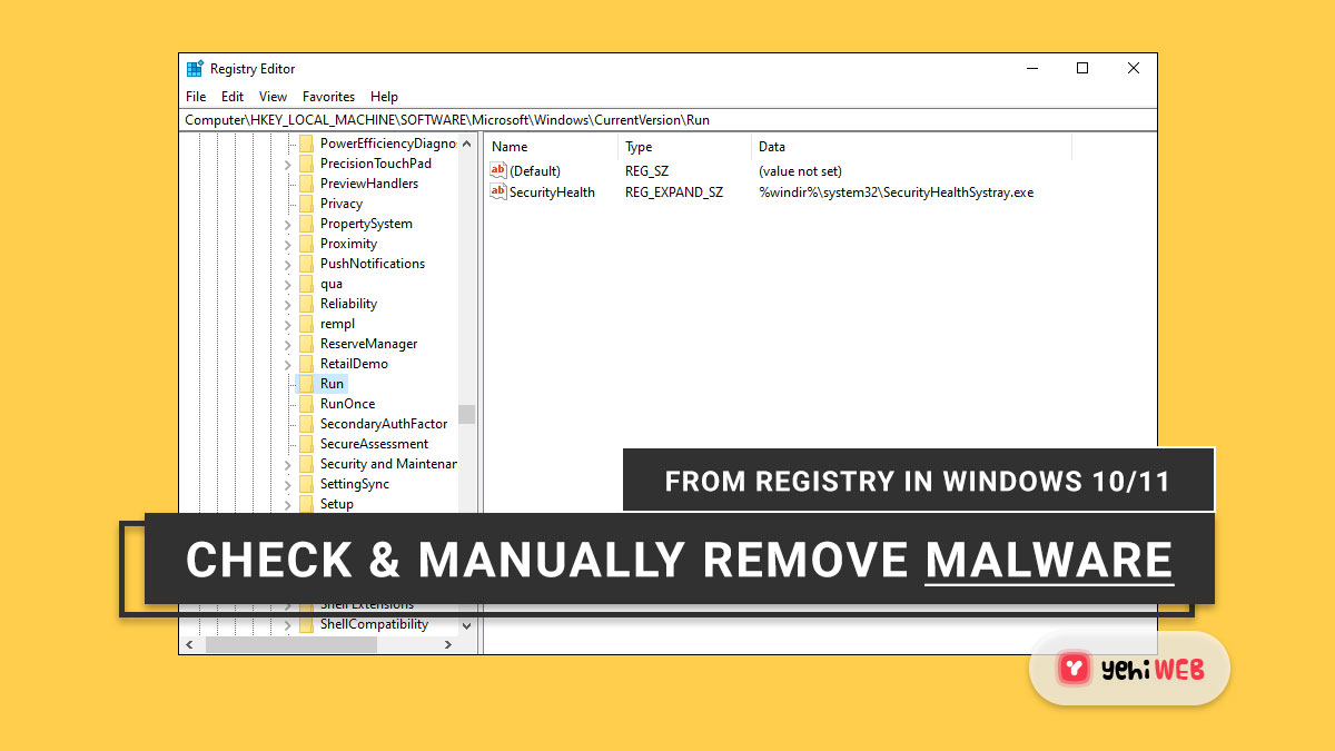 How to Check and Manually Remove Malware From Registry in Windows 10/11