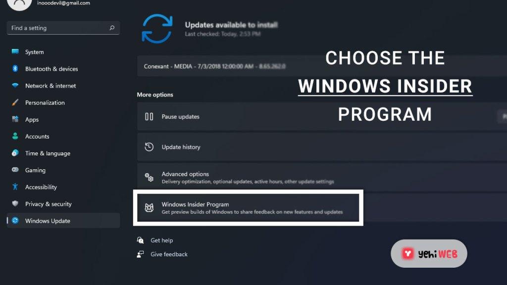 choose windows insider program yehiweb
