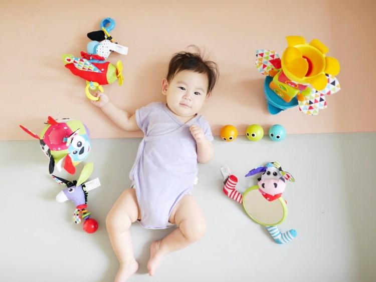 [親子] 0歲就可以玩的聲光玩具/遊戲墊健力架-以色列Yookidoo