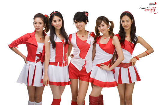 SNSD Hyoyeon, Seohyun, Sooyoung, Jessica and Yuri cosplay for MapleStory