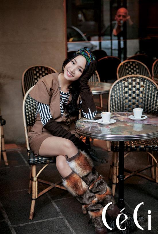 Park Min-young in Paris for Ceci magazine