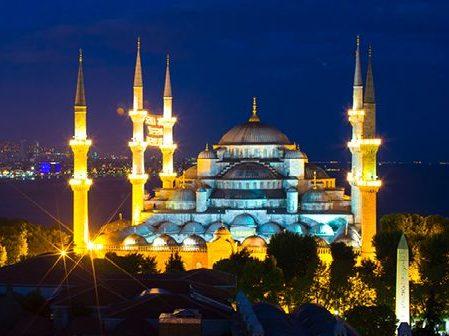 cami gece ışık şehir