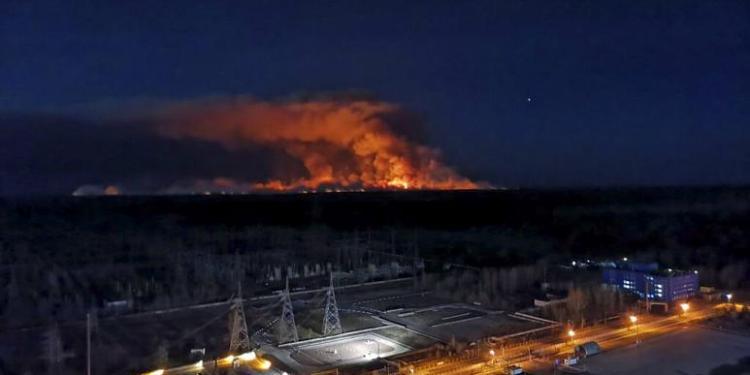 cernobil yanıyor