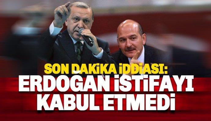 Erdoğan istifasını kabul etmedi