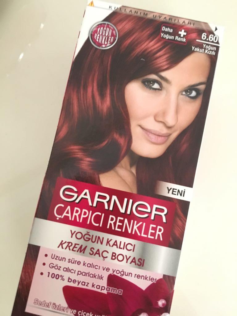 Garnier Saç Boyası Yoğun Yakut Kızılı 660 Yorumlarım Yelizin