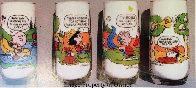 Camp Snoopy Glasses